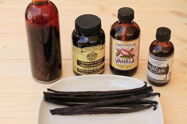 Extractos de vainilla