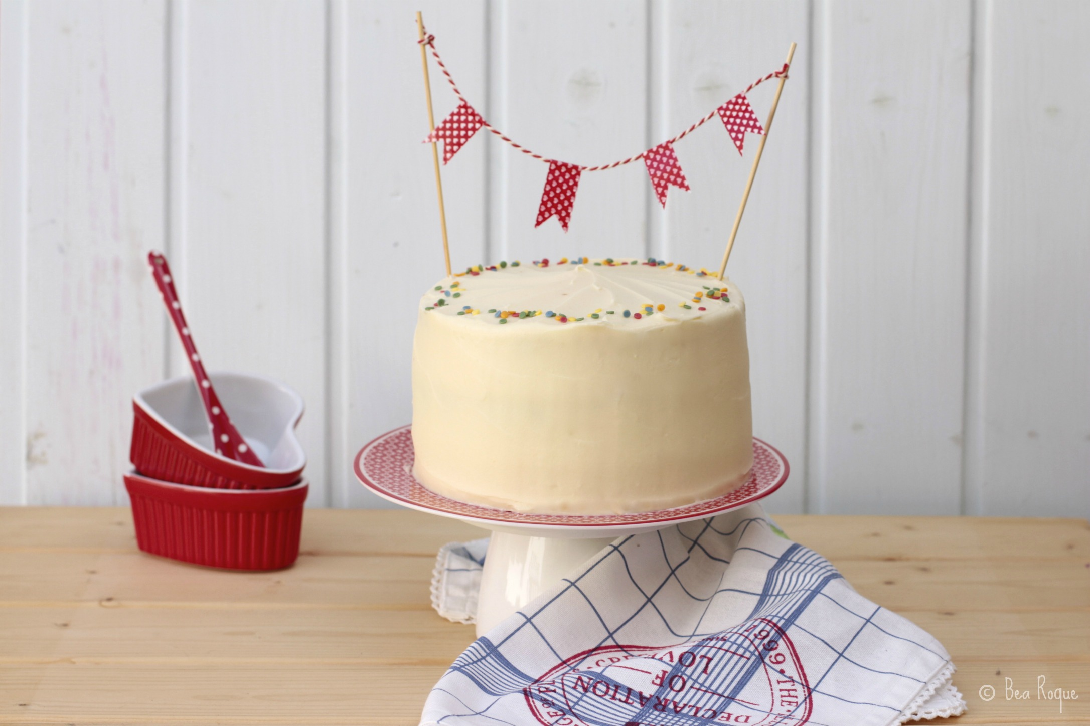 Una jugosa tarta, perfecta para los amantes del chocolate blanco.