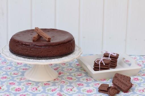 Si os gusta el cheesecke, y el chocolate, ésta receta pronto será vuesra favorita!!