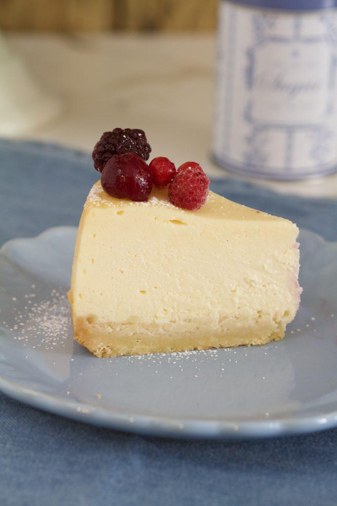 Cheesecake procesador corte