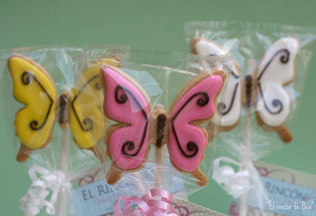 Butterflies on a stick