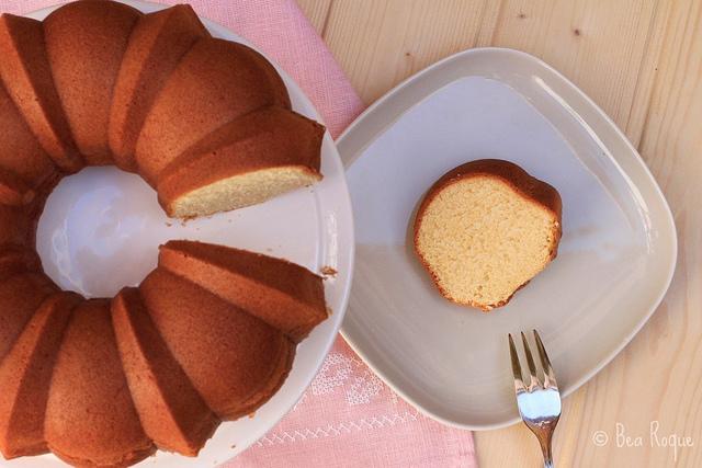 Whipped Cream & Vanilla Bundt Cake