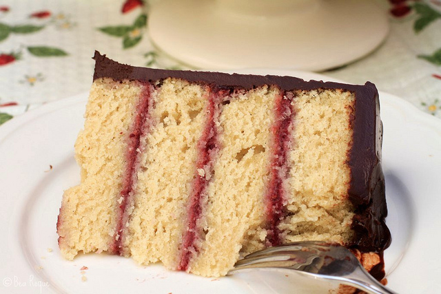 Raspberry & Chocolate Layer Cake