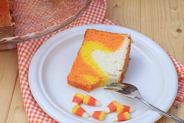 Halloween Angel Food Cake