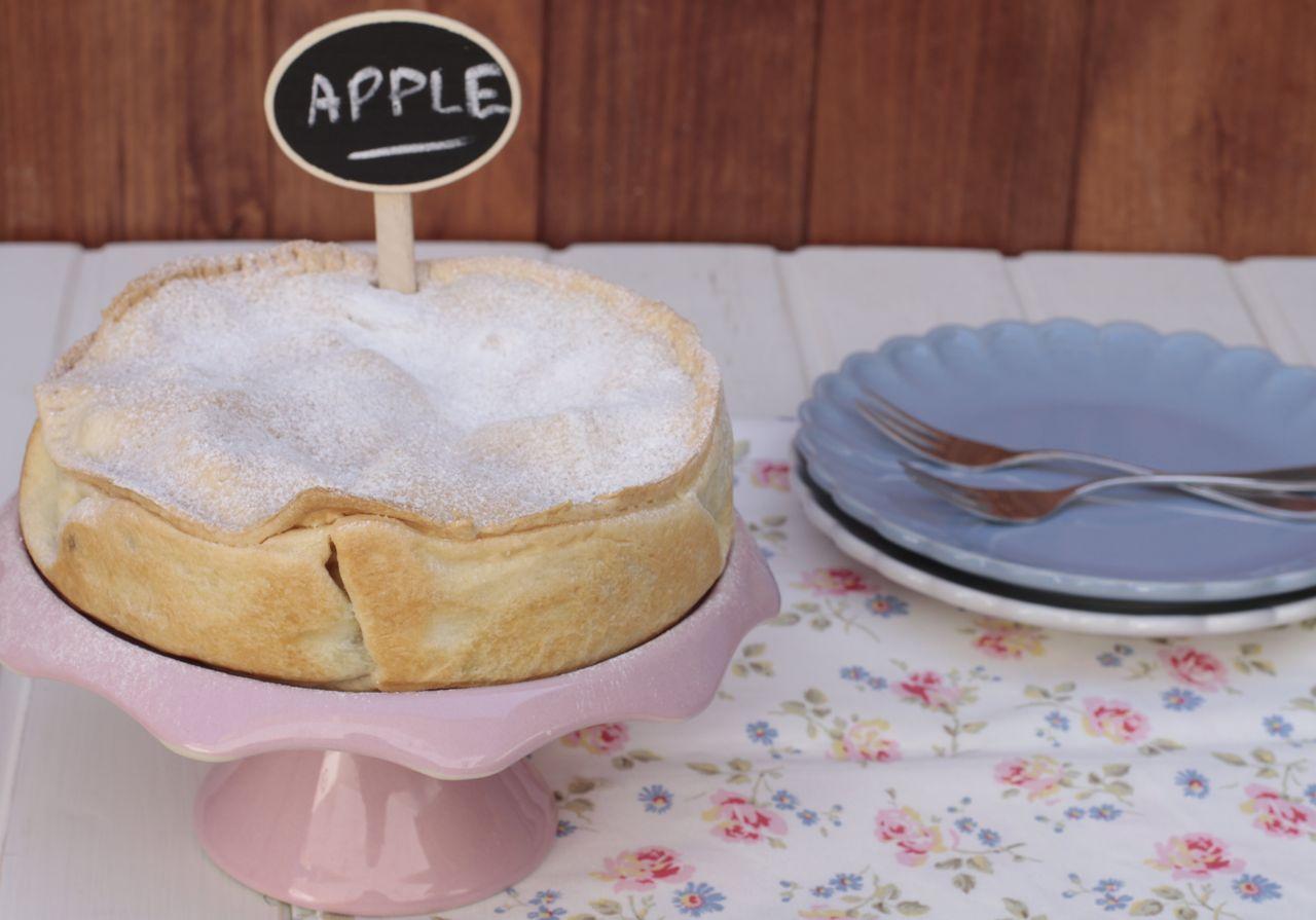 Una tarta de manzana rapidísima de hacer